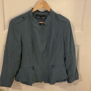 White House Black Market Jacket; Blue Grey; SZ 14